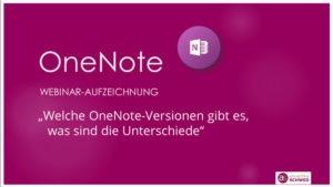 OneNote-Webinar-Aufzeichnung