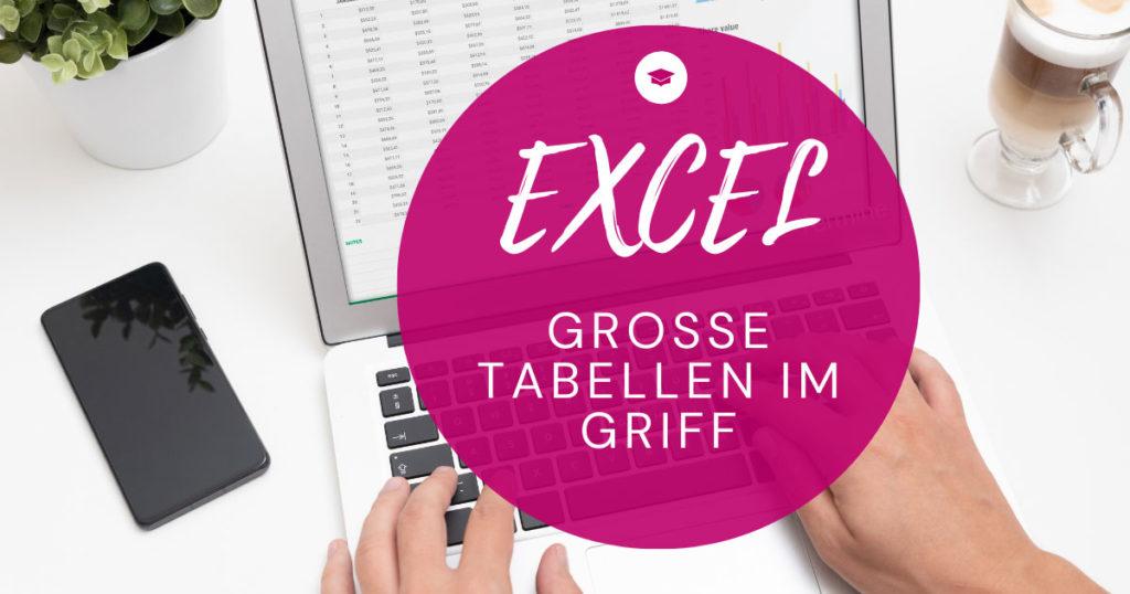 Wonline-Workshop Excel Grosse Tabellen