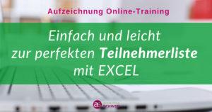 Aufzeichnung-Teilnehmerlisten mit Excel easy